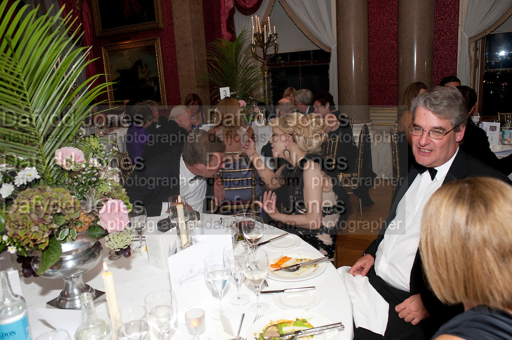 THE MARQUIS OF MILFORD HAVEN; COURTNEY LOVE, The Goodwood Ball. In aid of Gt. Ormond St. hospital. Goodwood House. 27 July 2011. <br /> <br />  , -DO NOT ARCHIVE-© Copyright Photograph by Dafydd Jones. 248 Clapham Rd. London SW9 0PZ. Tel 0207 820 0771. www.dafjones.com.