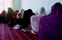 YAFTAL PAYAN, 31 July 2005..Women during a Vocational Traning Course  ....The VTC aim is to make women aware of their onwn status as Mother and as Woman, by giving lessons on maternity, health, family planning and post-natal issues. ..According to United Nations Population Fund, Afghanistan has among the world?s highest rates of maternal mortality, and Badakhshan has the highest rates ever recorded anywhere in the world, with one mother dying in every 15 births. Underage marriage is one of the primary causes of maternal mortality.....The VTC is funded by UNFPA and implemented by IBNSINA.