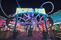 Pacific Park Entrance | An Evening at Santa Monica Pier, Los Angeles, California, USA