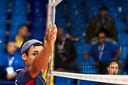 Katowice, Poland - 2017 September 03: Athlete Felix Badzo from SO Czech Republic looks at a side while Third Place match between SO Azerbaijan and SO Czech Republic during European Unified Volleyball Tournament 2017 at Spodek Hall on September 03, 2017 in Katowice, Poland.<br /> <br /> Adam Nurkiewicz declares that he has no rights to the image of people at the photographs of his authorship.<br /> <br /> Picture also available in RAW (NEF) or TIFF format on special request.<br /> <br /> Any editorial, commercial or promotional use requires written permission from the author of image.<br /> <br /> Image can be used in the press when the method of use and the signature does not hurt people on the picture.<br /> <br /> Mandatory credit:<br /> Photo by &copy; Adam Nurkiewicz / Mediasport