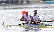 Eton, United Kingdom.  Men's Pair, Bow Alex PARTRIDGE and Will SATCH.  Sat. time trial.  2011 GBRowing Trials, Dorney Lake. Saturday  16/04/2011  [Mandatory Credit; Peter Spurrier/Intersport-images] Venue For 2012 Olympic Regatta and Flat Water Canoe events.