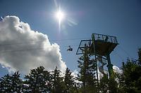 Future in Sight zip lining at Gunstock Mountain Resort.  Karen Bobotas for the Laconia Daily Sun