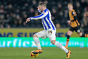 Gary Hooper (Sheffield Wednesday) during the Sky Bet Championship match between Hull City and Sheffield Wednesday at the KC Stadium, Kingston upon Hull, England on 26 February 2016. Photo by Mark P Doherty.