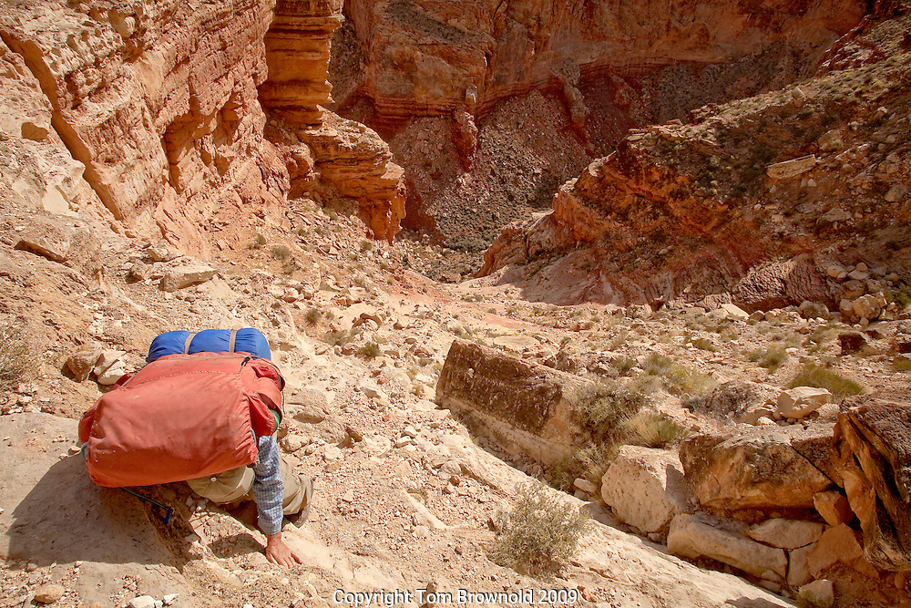 The trail into South Canyon of Marble canyon on the Marble Platform, Northern Arizona