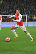Kieran Gibbs of Arsenal FC (3) makes his way up the field during the The FA Cup fifth round match between Hull City and Arsenal at the KC Stadium, Kingston upon Hull, England on 8 March 2016. Photo by Ian Lyall.