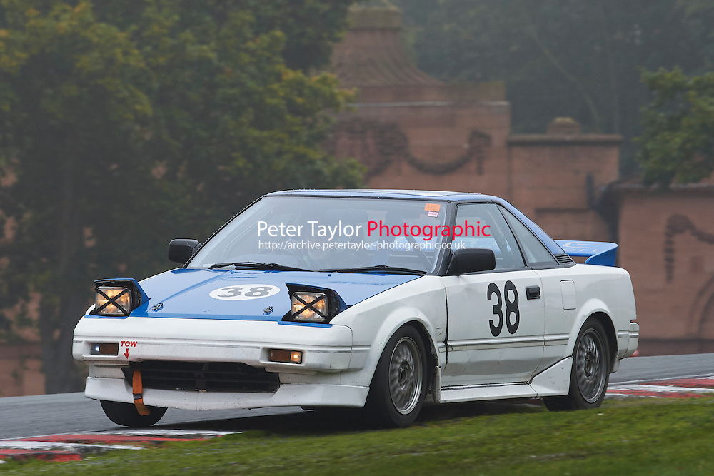 #38 David MUSTARDE Toyota MR2 Mk1 during Nippon Challenge / Youririshshop.com MR2 Racing Series - Qualifying  as part of the BARC Championships Race Day at Oulton Park, Little Budworth, Cheshire, United Kingdom. October 03 2015. World Copyright Taylor/PSP. Copy of publication required for printed pictures.  Every used picture is fee-liable. http://archive.petertaylor-photographic.co.uk