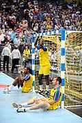 DESCRIZIONE : Handball coupe des coupes finale Tremblay Gummersbach<br /> GIOCATORE : Peyrabout Benoit Sall Poulin<br /> SQUADRA : Tremblay <br /> EVENTO : Coupe d'europe 2010-2011<br /> GARA : Tremblay Gummersbach<br /> DATA : 20/05/2011<br /> CATEGORIA : Handball Coupe d'europe<br /> SPORT : Handball<br /> AUTORE : JF Molliere par Agenzia Ciamillo-Castoria <br /> Galleria : France Hand 2010-2011 Action<br /> Fotonotizia : coupe des coupe finale Tremblay Gummersbach<br />   Match retour a Gummersbach