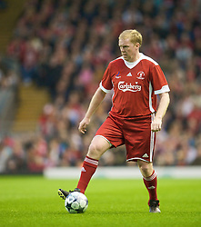 LIVERPOOL, ENGLAND - Thursday, May 14, 2009: Liverpool Legends' Steve Staunton in action against the All Stars during the Hillsborough Memorial Charity Game at Anfield. (Photo by David Rawcliffe/Propaganda)
