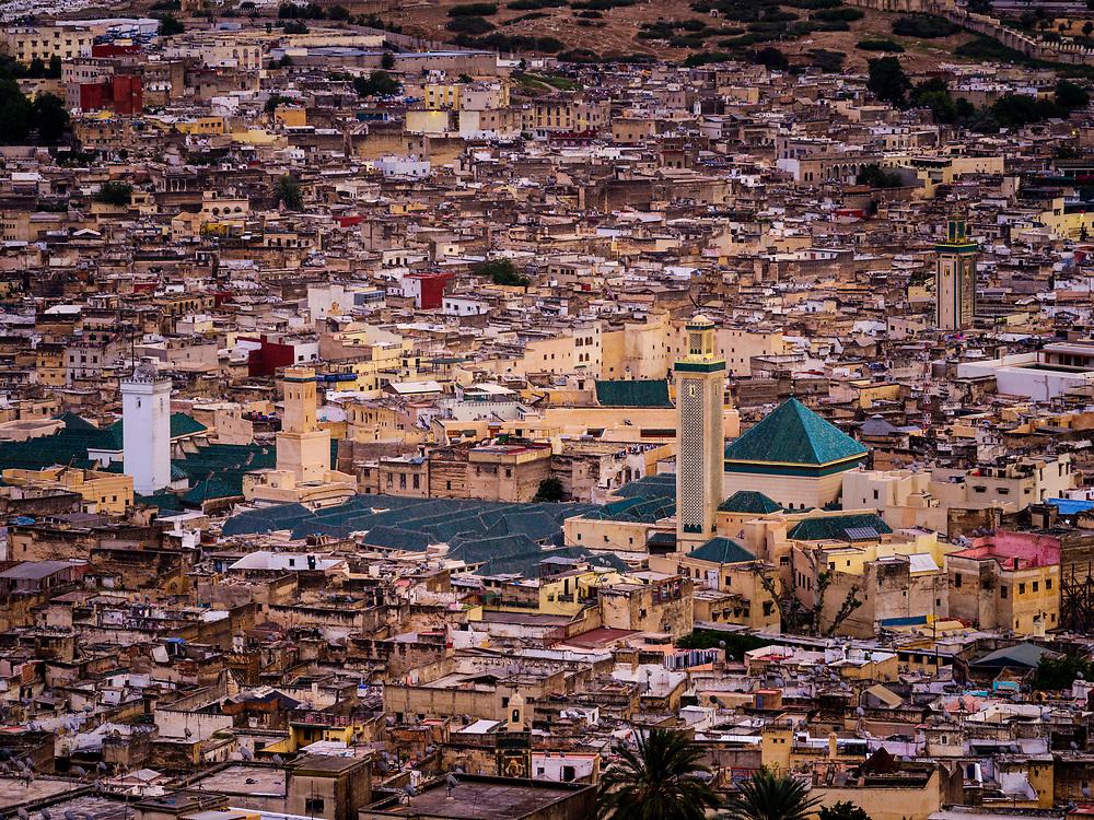 FEZ, MOROCCO - CIRCA APRIL 2017:  View of the Medina in Fez