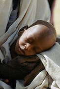 Child at Save the Children Fund hospital clinic in Upper Volta, now named Burkina Faso