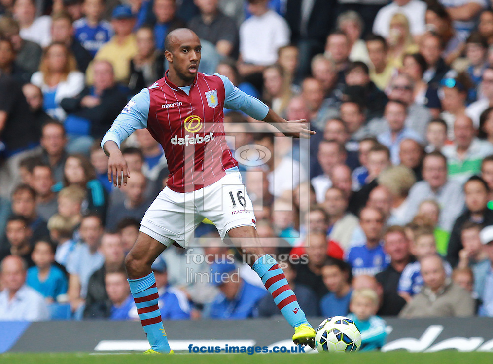 Fabian Delph of Aston Villa during the Barclays Premier League match at Stamford Bridge, London<br /> Picture by John Rainford/Focus Images Ltd +44 7506 538356<br /> 27/09/2014