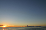 Sunset by Moorea, French Polynesia<br />