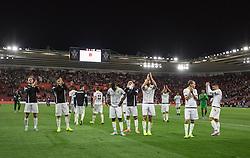 Vitesse Arnhem players applaud the fans at the end of the match, Southampton 3-0 Vitesse Arnhem - Mandatory by-line: Jason Brown/JMP - Mobile 07966386802 - 31/07/2015 - SPORT - FOOTBALL - Southampton, St Mary's Stadium - Southampton v Vitesse Arnhem - Europa League