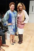 6 September 2013- New York, NY: (L-R) Debra Lee, President, BET Networks and Actress Elise Neal attends Harlem Fashion Row 2013 Spring Presentation held at Jazz at Lincoln Center on September 6, 2013 in New York City. ©Terrence Jennings