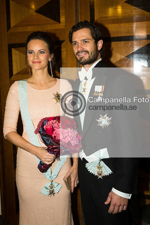 STOCKHOLM, SWEDEN - OCTOBER 23:  Prince Carl Phillip and Princess Sofia of Sweden attend The Royal Swedish Academy of Engineering Sciences' Formal Gathering on October 23rd, 2015 in Stockholm, Sweden. (Photo by Michael Campanella/Getty Images)