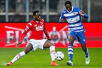 ALKMAAR - 16-04-2016, AZ - PEC Zwolle, AFAS Stadion, 5-1, AZ speler Ridgeciano Haps,  PEC Zwolle speler Queensy Menig