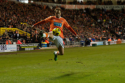 BLACKPOOL, ENGLAND - Tuesday, January 4, 2011: Blackpool's Luke Varney in action against Birmingham City during the Premiership match at Bloomfield Road. (Pic by: David Rawcliffe/Propaganda)