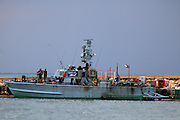 Israeli navy patrol boat in harbour