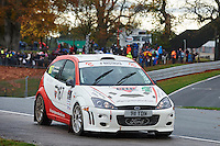 #167 Ian Copping / Dave Rowley Ford Focus Bolton-le-Moors Offspring International Ltd.during Neil Howard Memorial Stage Rally, and opening round of the 2015 Motorsport News Rally Championship.  at Oulton Park, Little Budworth, Cheshire, United Kingdom. November 07 2015. World Copyright Peter Taylor. Copy of publication required for printed pictures.  Every used picture is fee-liable. http://archive.petertaylor-photographic.co.uk