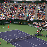 March 18, 2015, Indian Wells, California:<br /> Stadium 1 is shown during a match between Roger Federer and Jack Sock on day ten at the Indian Wells Tennis Garden in Indian Wells, California Wednesday, March 18, 2015.<br /> (Photo by Billie Weiss/BNP Paribas Open)