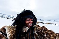 Lola takes a selfie while dog-sledding in Ilulissat, Greenland