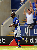 Leicester City/Swansea City Coca Cola Championship 08.08.09 <br /> Photo: Tim Parker Fotosports International<br /> Danny N'Guessan Leicester City celebrates 2nd goal