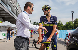 Andrej Hauptman and Luka Mezgec (SLO) of Orica - Scott during Stage 2 of 24th Tour of Slovenia 2017 / Tour de Slovenie from Ljubljana to Ljubljana (169,9 km) cycling race on June 16, 2017 in Slovenia. Photo by Vid Ponikvar / Sportida