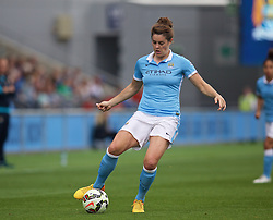 MANCHESTER, ENGLAND - Sunday, August 30, 2015: Manchester City's Jennifer Beattie in action against Liverpool during the League Cup Group 2 match at the Academy Stadium. (Pic by Paul Currie/Propaganda)