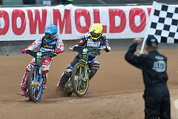 May 12, 2018 - Warsaw, Poland - Bartosz Zmarzlik (POL), Chris Holder (AUS) during 1st round of Speedway World Championships Grand Prix Poland in Warsaw, Poland, on 12 May 2018. (Credit Image: © Foto Olimpik/NurPhoto via ZUMA Press)