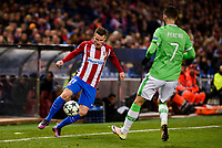 Atletico de Madrid's player Kevin Gameiro and PSV Eindhoven's player Gastón Pereiro during a match of La Liga at Santiago Bernabeu Stadium in Madrid. November 06, Spain. 2016. (ALTERPHOTOS/BorjaB.Hojas)