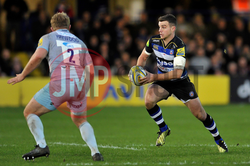 George Ford of Bath Rugby in possession - Mandatory byline: Patrick Khachfe/JMP - 07966 386802 - 05/12/2015 - RUGBY UNION - The Recreation Ground - Bath, England - Bath Rugby v Northampton Saints - Aviva Premiership.