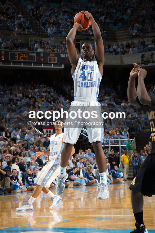 CHAPEL HILL, NC - DECEMBER 17: Harrison Barnes #40 of the North Carolina Tar Heels shoots while playing the against the Appalachian State Mountaineers on December 17, 2011 at the Dean E. Smith Center in Chapel Hill, North Carolina. North Carolina won 82-97. (Photo by Peyton Williams/UNC/Getty Images) *** Local Caption *** Harrison Barnes