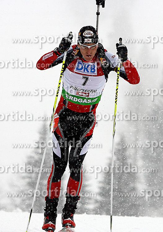 15.12.2011, Biathlonzentrum, Hochfilzen, AUT, E.ON IBU Weltcup, 3. Biathlon, Hochfilzen, Sprint Maenner, im Bild Friedrich Pinter (AUT) // during Sprint men E.ON IBU World Cup 3th Biathlon, Hochfilzen, Austria on 2011/12/15. EXPA Pictures © 2011, PhotoCredit: EXPA/ Oskar Hoeher