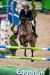 HELLSTRÖM Jacob (SWE), Mansini Ltd<br /> Leipzig - Partner Pferd 2019<br /> Zeitspringprüfung<br /> Preis des Auto Center Leipzig<br /> 19. Januar 2019<br /> © www.sportfotos-lafrentz.de/Stefan Lafrentz