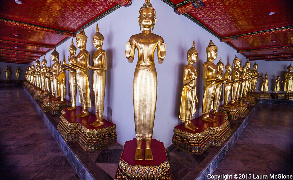 Standing Buddha Statues, Bangkok, Thailand