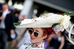 A racegoer during day five of Royal Ascot at Ascot Racecourse. PRESS ASSOCIATION Photo. Picture date: Saturday June 23, 2018. See PA story RACING Ascot. Photo credit should read: John Walton/PA Wire. RESTRICTIONS: Use subject to restrictions. Editorial use only, no commercial or promotional use. No private sales.