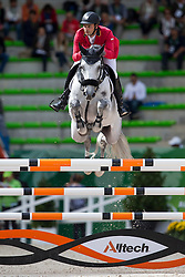 Ibrahim Bisharat, (JOR), Emmanuel - Team & Individual Competition Jumping Speed - Alltech FEI World Equestrian Games™ 2014 - Normandy, France.<br /> © Hippo Foto Team - Leanjo De Koster<br /> 02-09-14