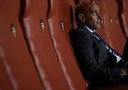 """VALENCIA, SPAIN - MARCH 30: Sport director of Sevilla FC Ramon Rodriguez """"Monchi"""" reacts during the Liga BBVA between Levante UD and Sevilla FC at the Ciutat de Valencia stadium on March 30, 2013 in Valencia, Spain. (Photo by Aitor Alcalde Colomer)."""