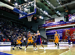 February 5, 2018 - Moscow, Moscow, Russia - Malcolm Thomas, #23 of Khimki Moscow battles for position against Semen Antonov of CSKA Moscow during a Russian VTB United league game in Moscow. (Credit Image: © Nicholas Muller/SOPA via ZUMA Wire)