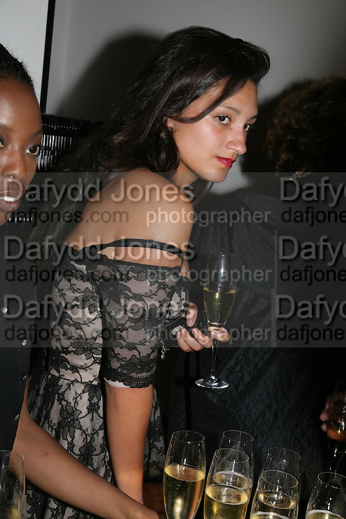 Delilah Khomo, Michael Roberts - book launch party hosted by Vanity Fair to celebrate  publication, Shot In Sicily. Hamiltons Gallery, 13 Carlos Place, London,17 September 2007. -DO NOT ARCHIVE-© Copyright Photograph by Dafydd Jones. 248 Clapham Rd. London SW9 0PZ. Tel 0207 820 0771. www.dafjones.com.