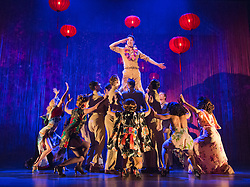 "© Licensed to London News Pictures. 16/10/2013. London, England. Pictured: Robert Lonsdale at top. The Musical ""From Here to Eternity"" opens at the Shaftesbury Theatre on 23 October 2013 starring Darius Campbell, Siubhan Harrison, Robert Lonsdale and Rebecca Thornhill. This brand new musical is directed by Tamara Harvey and lyrics by Tim Rice, music by Stuart Brayson and script by Bill Oakes. Photo credit: Bettina Strenske/LNP"