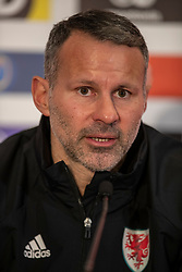 CARDIFF, WALES - Monday, November 18, 2019: Wales' manager Ryan Giggs during a press conference at the Vale Resort ahead of the final UEFA Euro 2020 Qualifying Group E match against Hungary. (Pic by David Rawcliffe/Propaganda)
