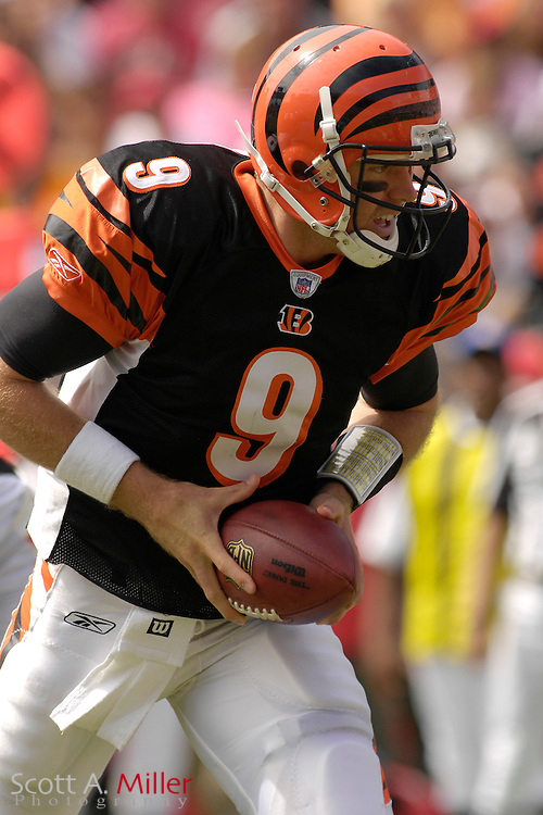Oct. 15, 2006; Tampa, FL, USA;  Cincinnati Bengals quarterback (9) Carson Palmer in action during the first half against the Tampa Bay Buccaneers at Raymond James Stadium. ...©2006 Scott A. Miller