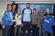 AFC Wimbledon midfielder Anthony Wordsworth (40) receiving man of match award during the EFL Sky Bet League 1 match between AFC Wimbledon and Rochdale at the Cherry Red Records Stadium, Kingston, England on 5 October 2019.