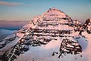 North Maroon Peak is bathed in a sunrise glow, Elk Mountains, Colorado.