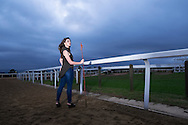 Model Kara photo shoot at the Race horse training grounds at Summerveld.  Images by Durban portrait and fashion / lifestyle photographer Paul Gregg. Fuji X-T1