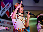 "25 JANUARY 2019 - BANGKOK, THAILAND: Members of the band ""W."" perform during a ""J Pop"" (Japanese Pop music) concert at the Japan Expo in Central World, a shopping mall in Bangkok.      PHOTO BY JACK KURTZ"