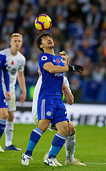 LEICESTER, ENGLAND - Saturday, November 10, 2018: Leicester City's Shinji Okazaki during the FA Premier League match between Leicester City FC and Burnley FC at the King Power Stadium. (Pic by David Rawcliffe/Propaganda)