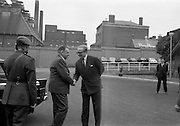 2/7/1964<br /> 7/2/1964<br /> 2 July 1964<br /> <br /> An Taoiseach Mr. Sean Lemass shaking hands with Lord Elveden Managing Director at the Opening of the Guinness Laboratories