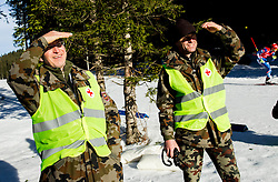 First aid soldiers during Men 12,5 km Pursuit at day 3 of IBU Biathlon World Cup 2014/2015 Pokljuka, on December 20, 2014 in Rudno polje, Pokljuka, Slovenia. Photo by Vid Ponikvar / Sportida